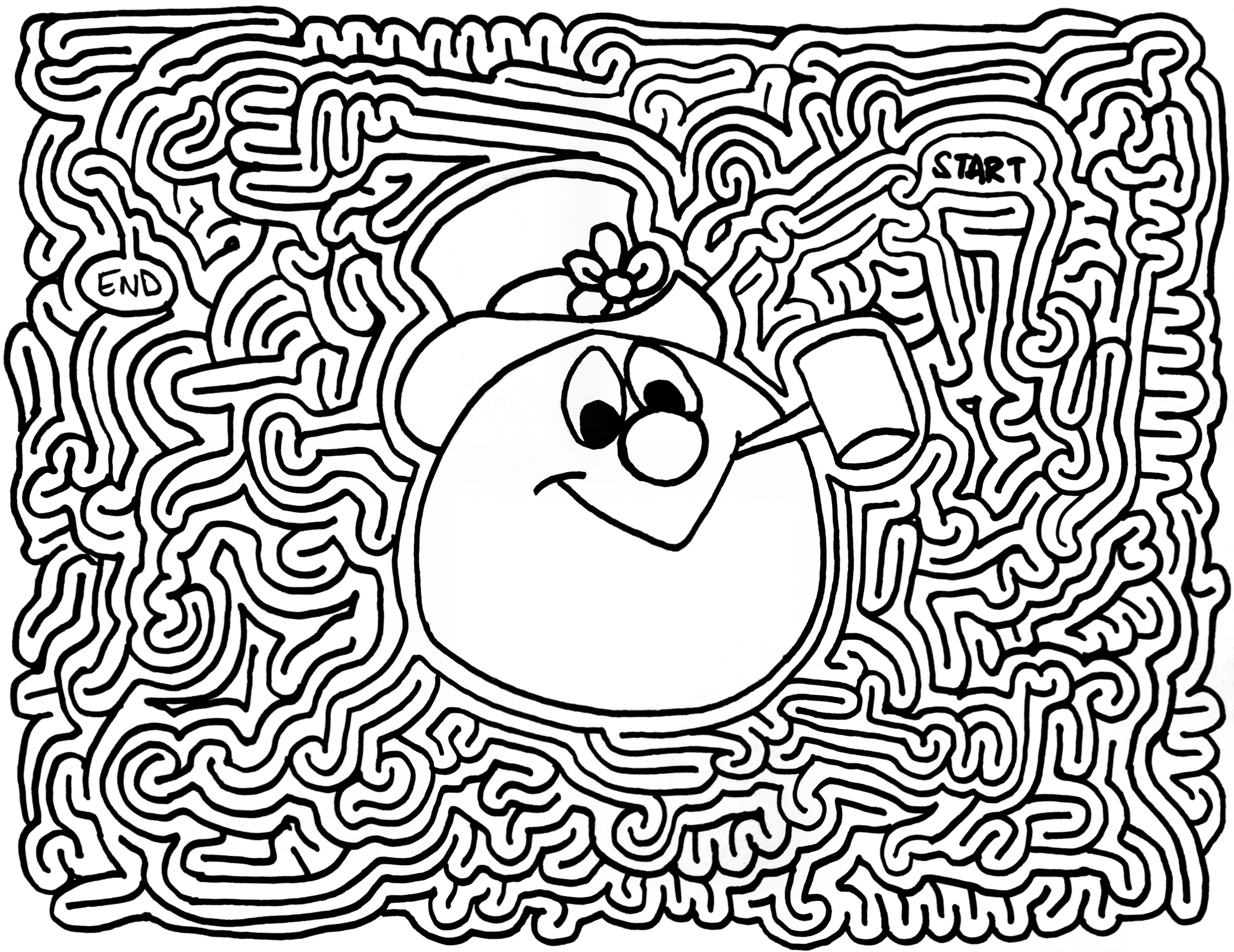 mazes frosty the snowman by eric j eckert