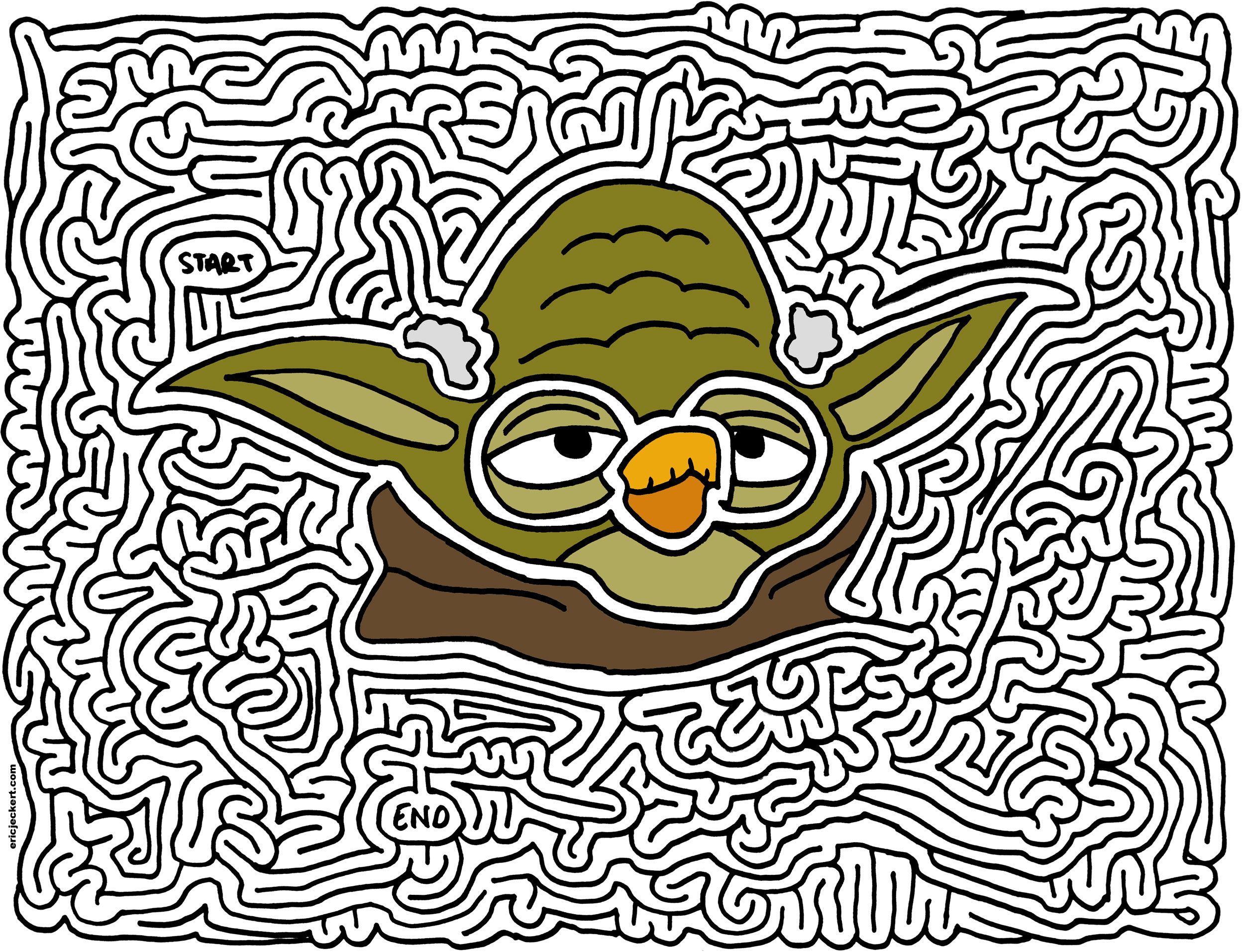 Angry Birds Star Wars Yoda Coloring Page