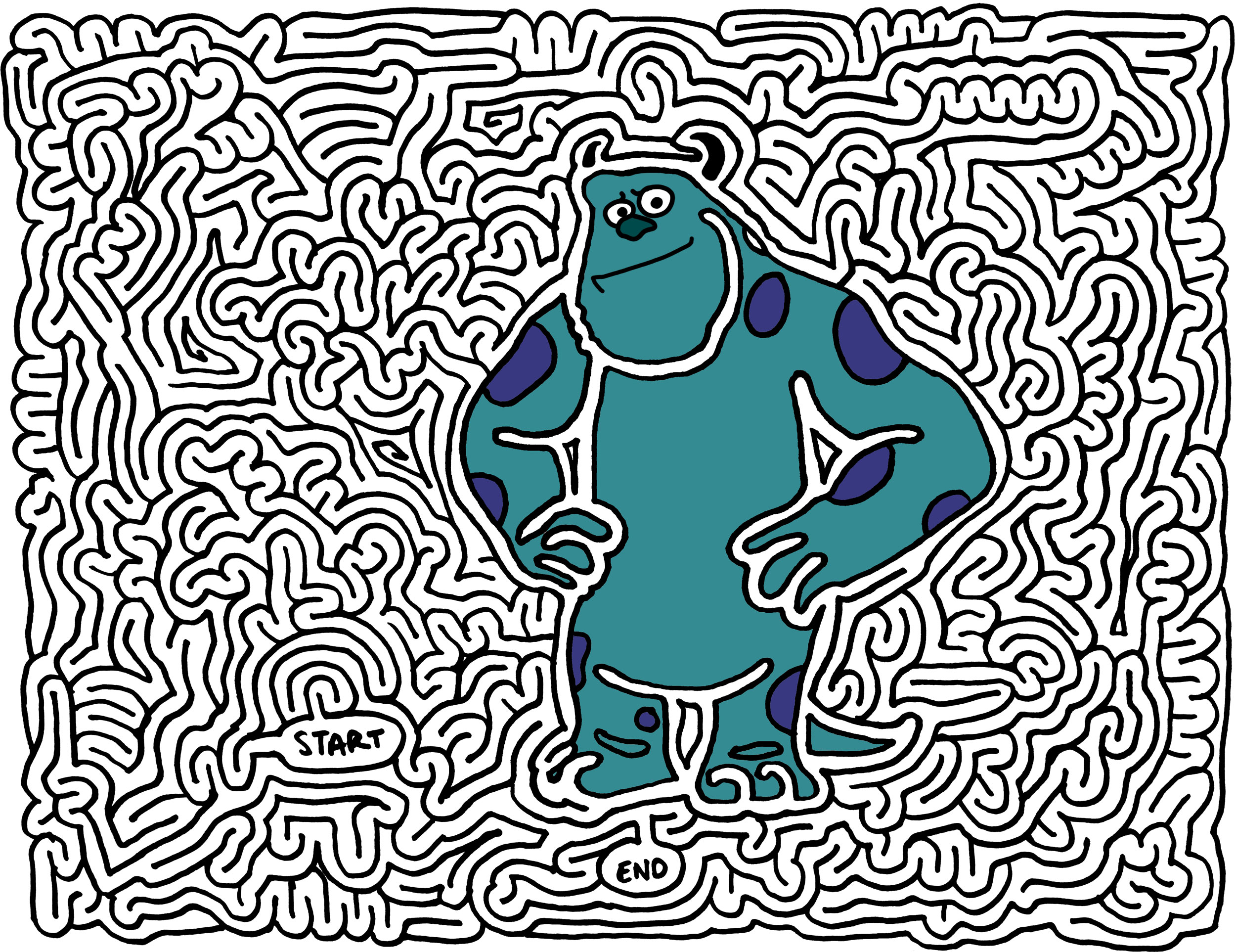mazes » monsters inc - by Eric J Eckert