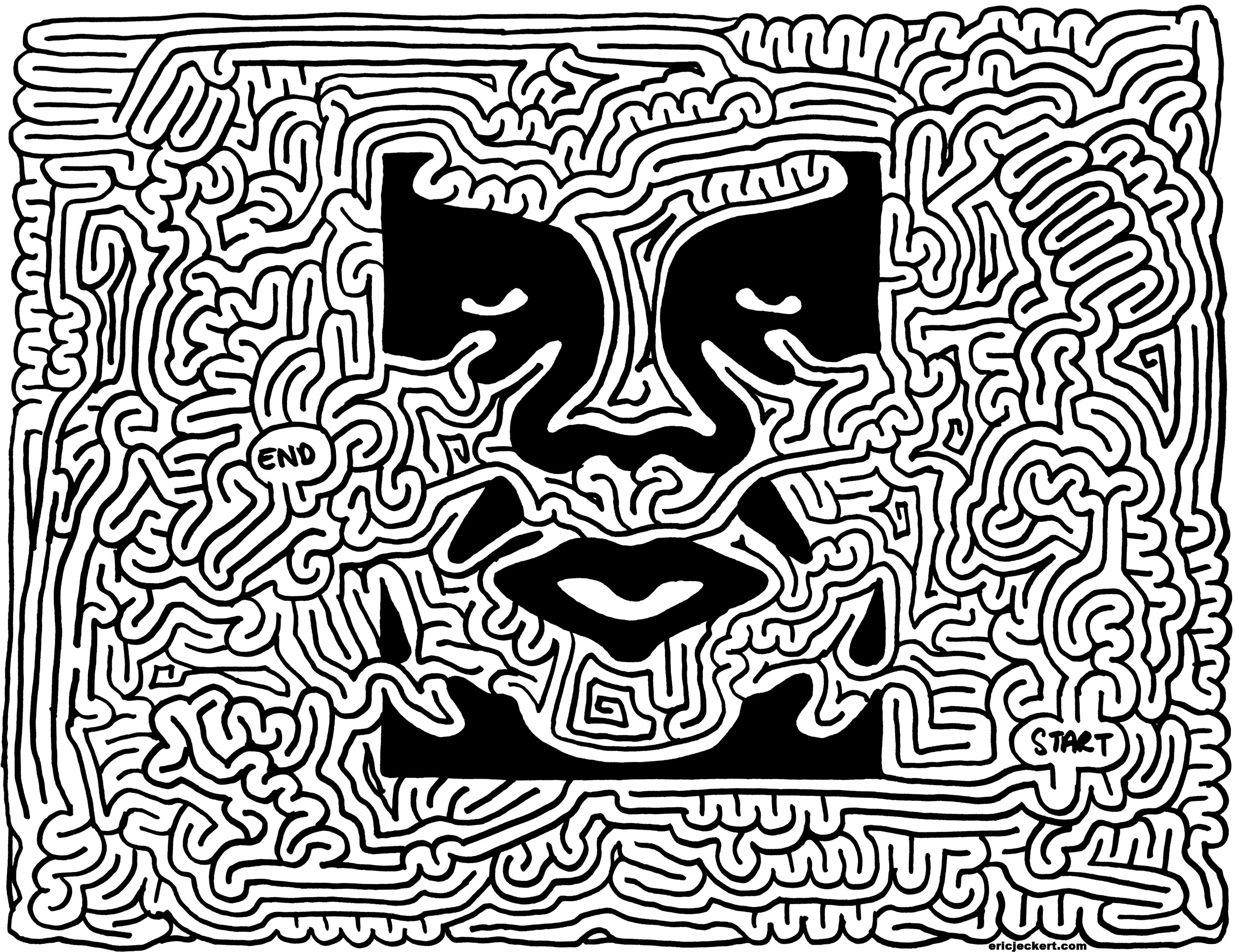 Mazes 187 Obey Giant By Eric J Eckert